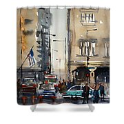 Rush Hour - Chicago Shower Curtain