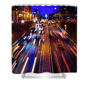 Rush Hour Traffic On North Capitol Show Shower Curtain