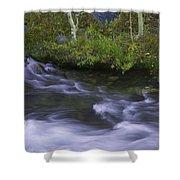 Rushing Stream And Creek Bank - Eastern Sierra Shower Curtain