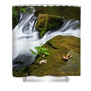 Rushing Water At Whatcom Falls Park Shower Curtain