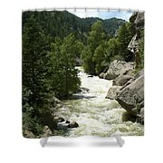 Rushing Water In Boulder Canyon Shower Curtain