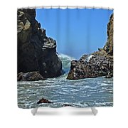 Rushing Wave - Big Sur Shower Curtain