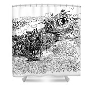 Russell Overland Stage Shower Curtain