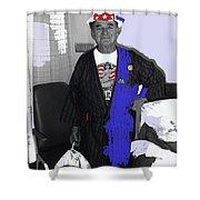 Russell Short Celebrating July 4th Tucson Medical Center Tucson Arizona 1990 Shower Curtain