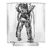 Russell The Cowboy Shower Curtain