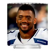 Russell Wilson Quote Shower Curtain