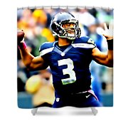 Russell Wilson Smooth Delivery Shower Curtain