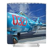 Russian Aircraft Mig At Interpid Museum Shower Curtain