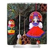 Russian Christmas Tree Decoration In Fredrick Meijer Gardens And Sculpture Park In Grand Rapids-mi Shower Curtain