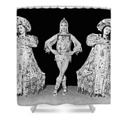 Russian Claudia Ballet Dancers Shower Curtain by Underwood Archives