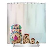 Russian Dolls Shower Curtain
