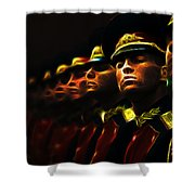 Russian Honor Guard - Featured In Men At Work Group Shower Curtain