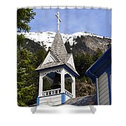 Russian Orthodox Church Bell Tower Shower Curtain