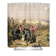 Russian Rifle Pit , Plate From The Seat Shower Curtain