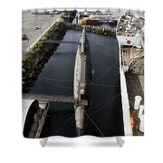 Russian Submarine Top View Shower Curtain