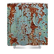 Rust And Paint Shower Curtain