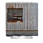 Rust And Window 1 Shower Curtain