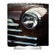Rust-colored Chevy Shower Curtain