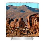 Rust In Peace Shower Curtain by James Brunker