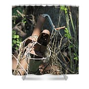 Rust In The Woods Shower Curtain