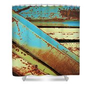 Rust N Turquoise Shower Curtain