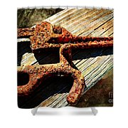 Rust Tools II With Texture Shower Curtain