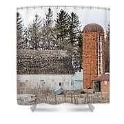 Rusted And Brown Shower Curtain