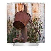 Rusted And Out Of Use Shower Curtain