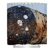 Rusted Buoy Shower Curtain