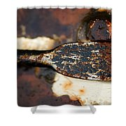 Rusted Camouflage Shower Curtain