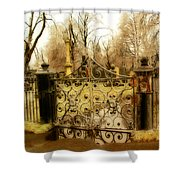 Rusted Cemetery Gate Shower Curtain