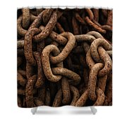 Rusted Chain Shower Curtain
