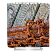 Rusted Chained Shower Curtain