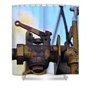 Rusted Flagg Valve Shower Curtain