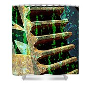 Rusted Gears Abstract Shower Curtain