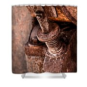 Rusted Gold Mine Equipment Shower Curtain