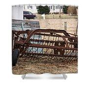 Rusted Hay Rake Shower Curtain