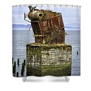 Rusted Equipment Shower Curtain