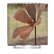 Rusted Iron Flower Shower Curtain