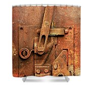 Rusted Latch Shower Curtain by Jim Hughes