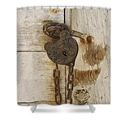 Rusted Lock Shower Curtain