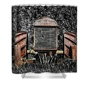 Rusted Old Tractor Shower Curtain