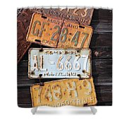 Rusted Plates Shower Curtain