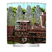 Rusted Rails Shower Curtain