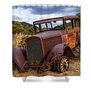 Rusted Respite Shower Curtain