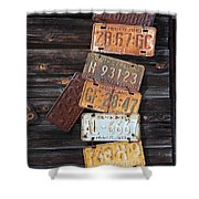 Rusted Usa Shower Curtain