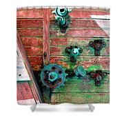 Rusted Valves Shower Curtain