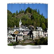 Rustic Alpine Village Shower Curtain