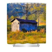 Rustic Autumn Landscape In North Georgia Shower Curtain by Mark E Tisdale