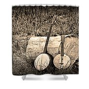 Rustic Banjos Shower Curtain